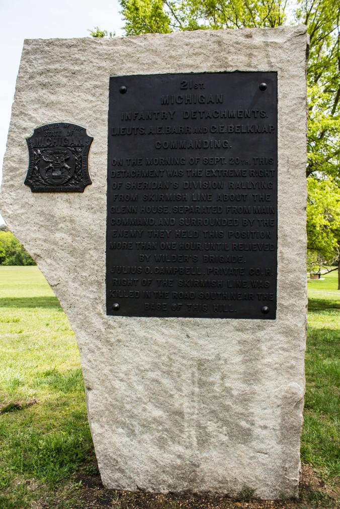 21st Michigan Detachment Monument