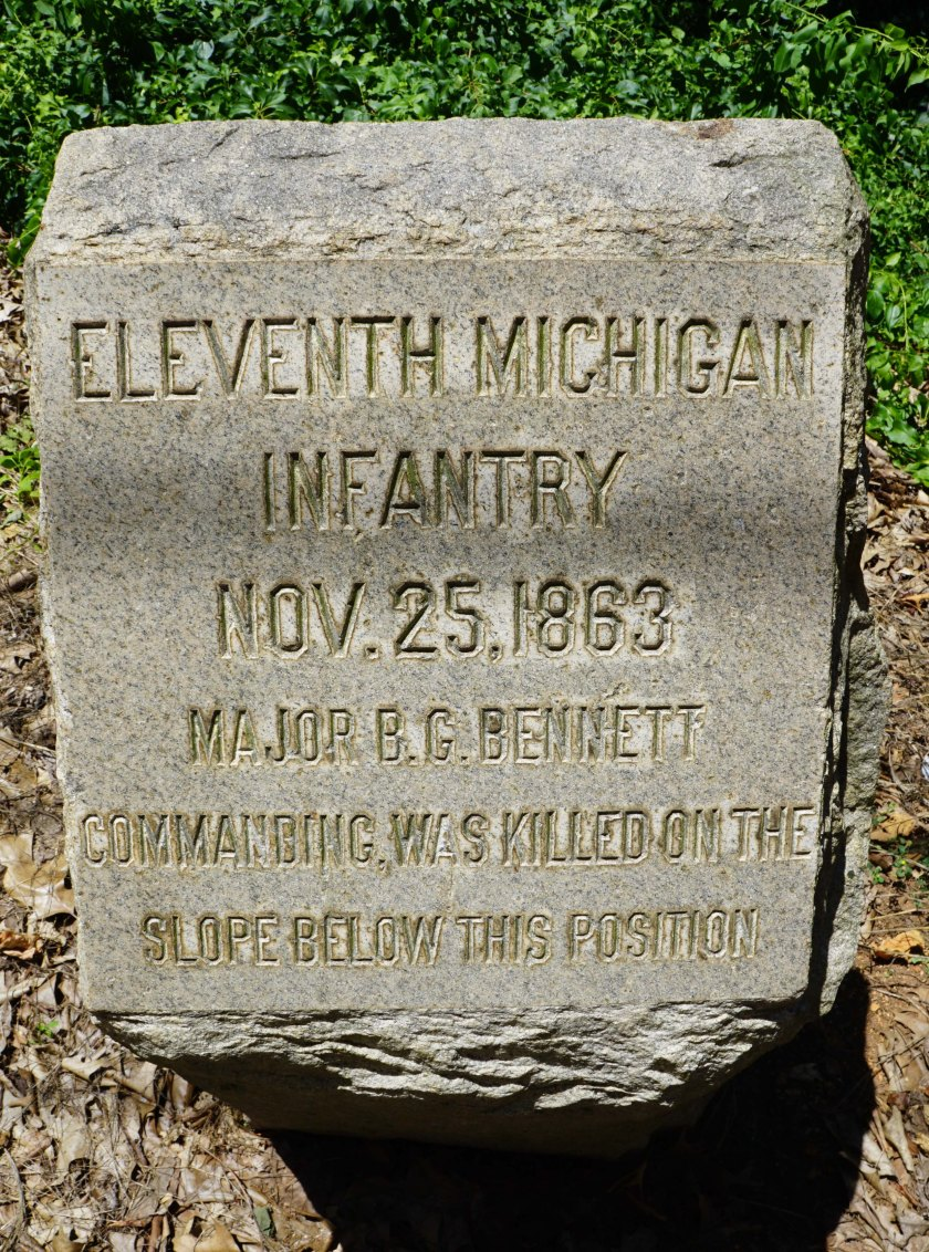 11th Michigan marker Missionary Ridge