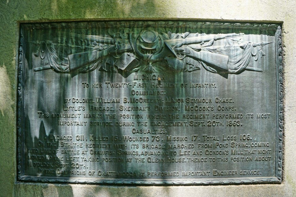 21st Michigan Infantry Monument near Lytle Hill 3