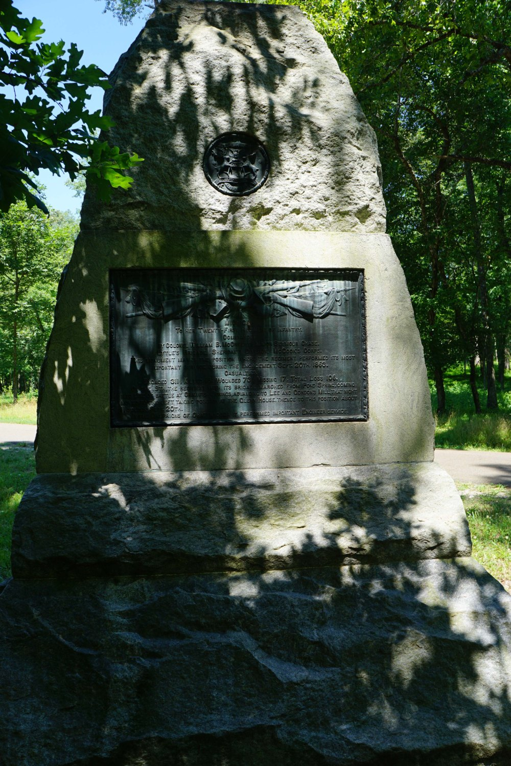 21st Michigan Infantry Monument near Lytle Hill